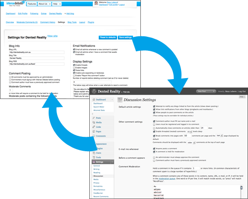 IntenseDebate - WordPress moderation sync