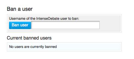 ban user