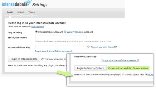 import « IntenseDebate - Official Blog